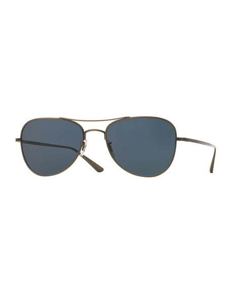 Oliver Peoples Executive Suite Photochromic Aviator Sunglasses,