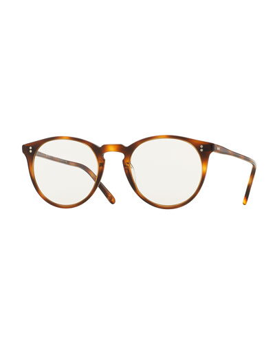 O'Malley NYC Peaked Round Photochromic Sunglasses, Tortoise
