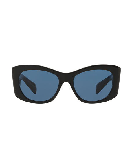 Black Cat Eye Sunglasses  oliver peoples the row bother me cat eye sunglasses black
