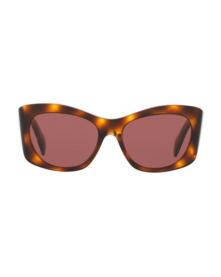 Bother Me Cat-Eye Sunglasses, Tortoise