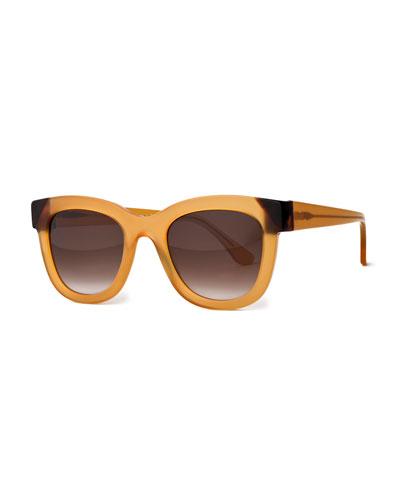 Chromaty Gradient Square Sunglasses, Honey