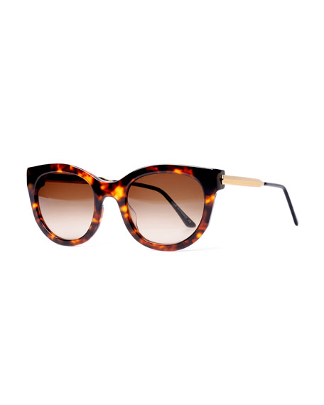 Lively Limited Edition Vintage-Pattern Square Sunglasses, Tortoise