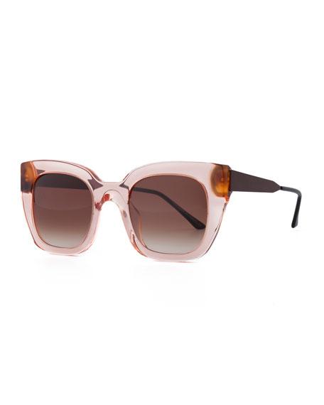 Swingy Gradient Square Sunglasses, Pink