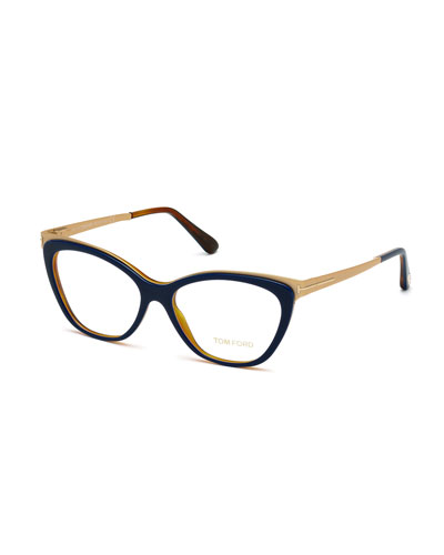 Cat-Eye Optical Frames, Blue