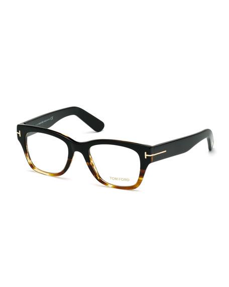 optical frames  TOM FORD Square Two-Tone Optical Frames, Havana