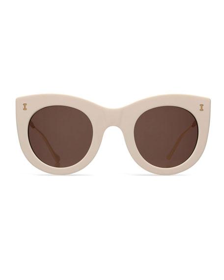 Boca II Cat-Eye Sunglasses, Cream