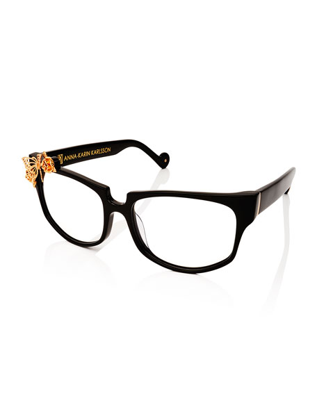 Seeking Summer Square Optical Frames, Black