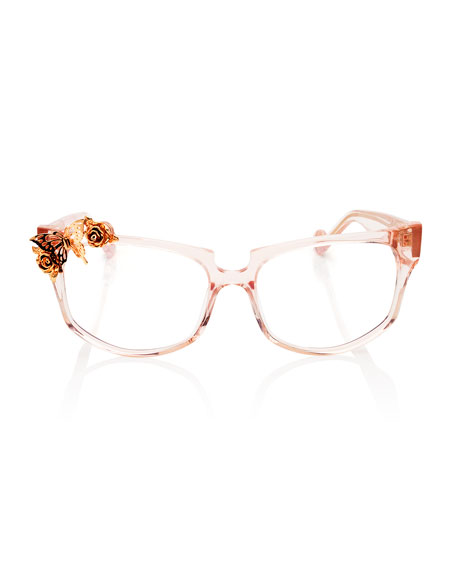 Seeking Summer Square Optical Frames, Pink