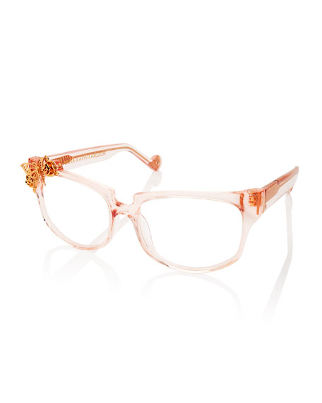 Anna-Karin Karlsson Seeking Summer Square Optical Frames, Pink