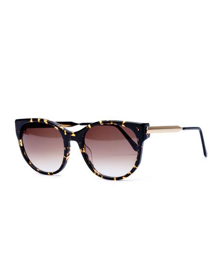 Thierry Lasry Axxxexxxy Butterfly Sunglasses, Dark Brown Havana