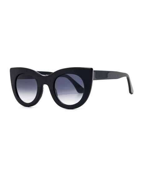 Orgasmy Cat-Eye Sunglasses, Black