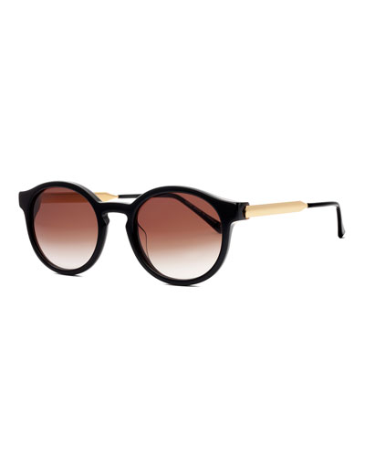 Silenty Round Sunglasses, Black