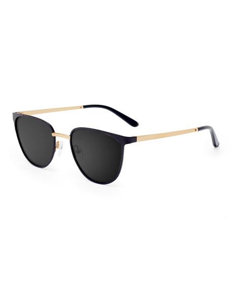Smoke X Mirrors Money Square Stainless Steel Sunglasses,