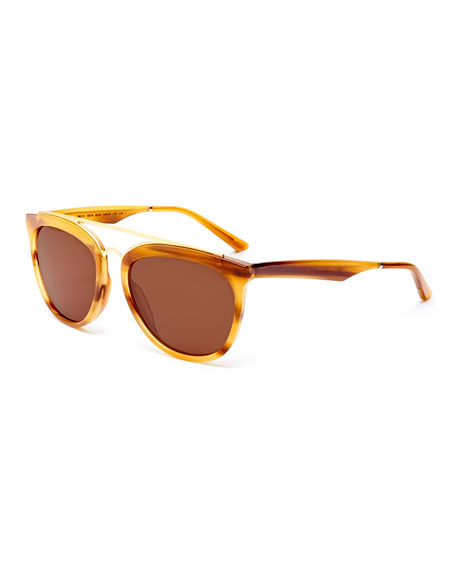 Smoke X Mirrors Volunteers Square Metal-Bridge Sunglasses,