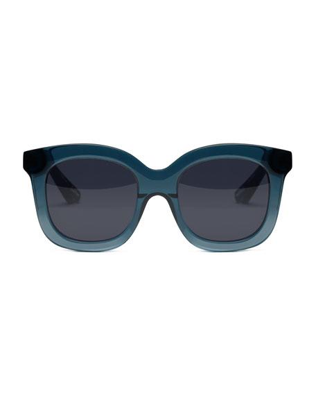 Sutton Acetate Square Sunglasses