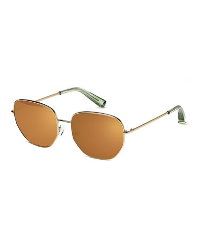 Hill Stainless Steel Square Sunglasses