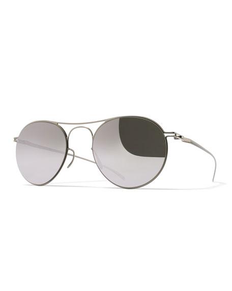 Maison Margiela Essential Round Sunglasses, Silver