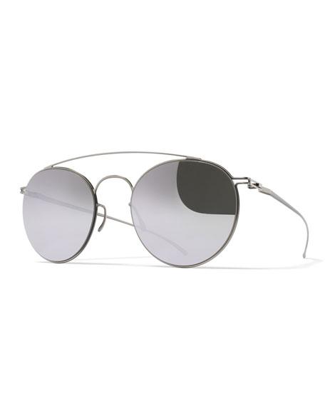 MYKITA + Maison Margiela Essential Round Aviator Sunglasses,