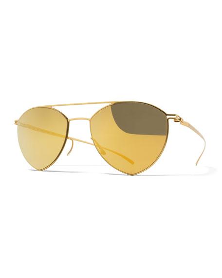 MYKITA + Maison MargielaEssential Angular Aviator Sunglasses,