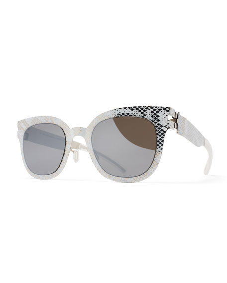 MYKITA + Maison Margiela Transfer Square Embossed Sunglasses,