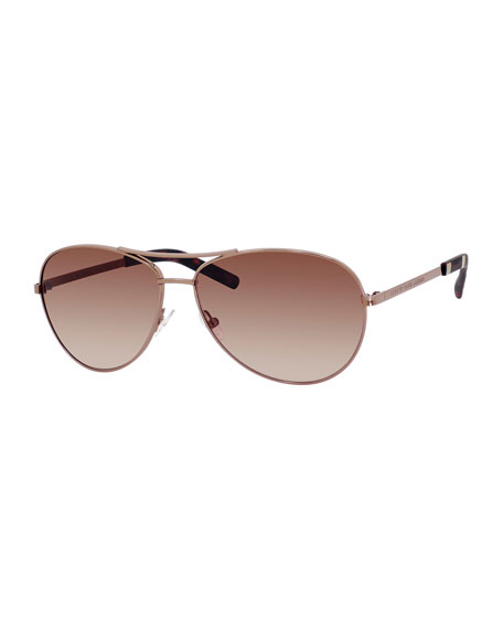 MARC by Marc Jacobs Metal Aviator Sunglasses, Brown