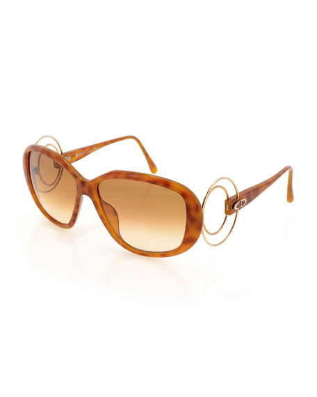 Christian Dior Gradient Oval Acetate Sunglasses, Brown