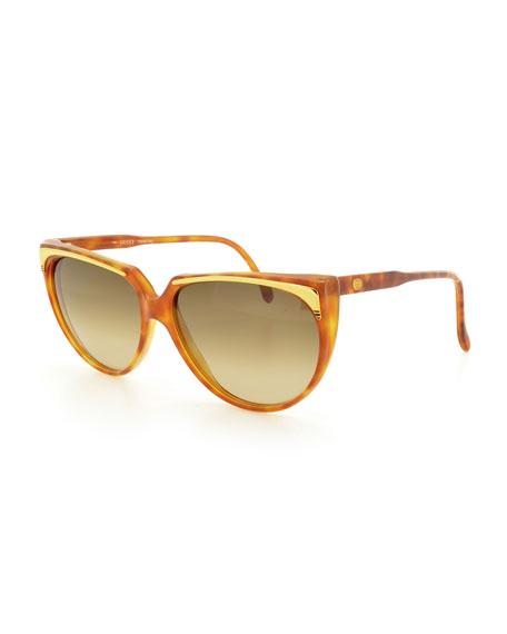 GucciGradient Cat-Eye Sunglasses, Light Havana