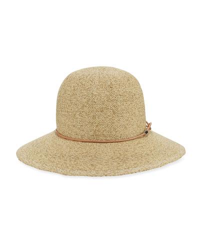 Devon Straw Cloche Hat, Natural
