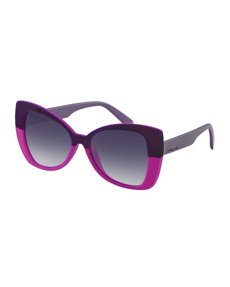 I-Plastik Velvet Butterfly Sunglasses, Pink