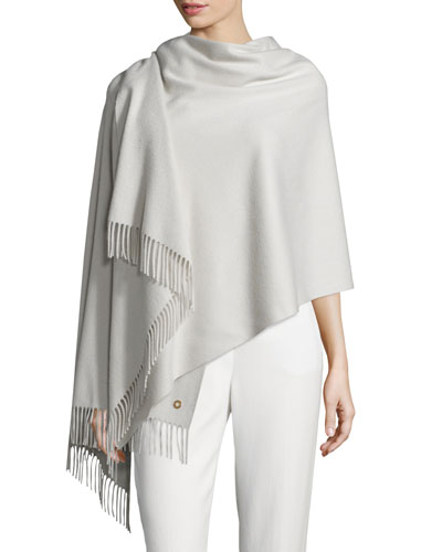 Felted Cashmere Opera Stole, Gray