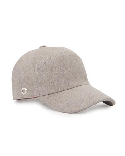 Cashmere Baseball Cap, Gray