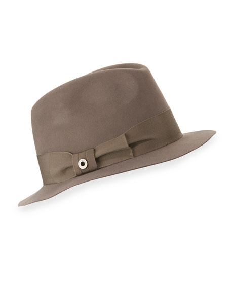 Loro Piana Mia Felt Fedora Hat, Myrtle
