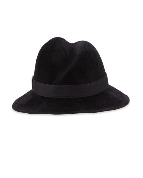 Gigi Burris Nell Handmade Wool Fedora Hat, Black