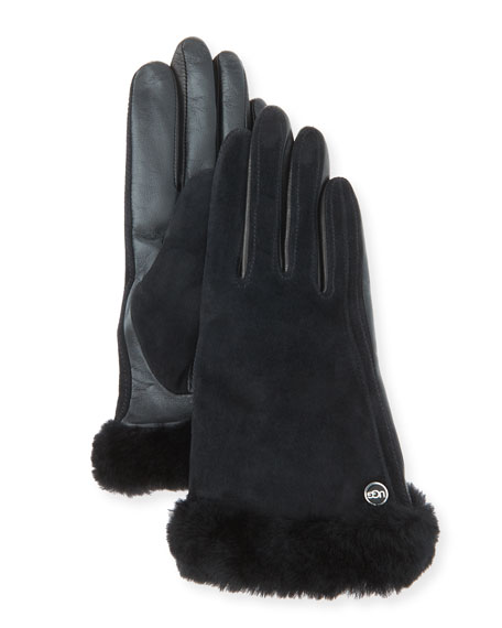 Carry Forward Classic Suede Smart Gloves, Black