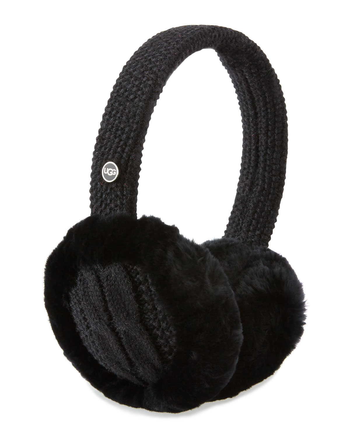 9d1288abc97 Wired Cable-Knit Crochet Earmuffs, Black