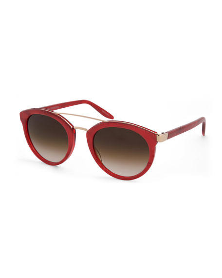 Dalziel Gradient Cat-Eye Sunglasses, Red