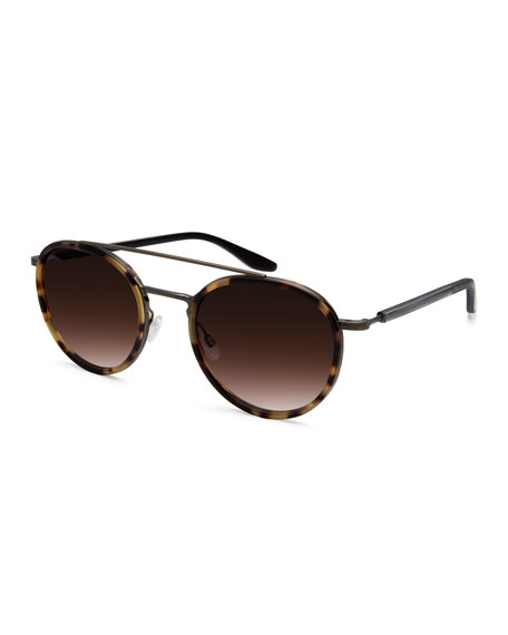 Justice Gradient Round Sunglasses, Antique Gold/Tortoise