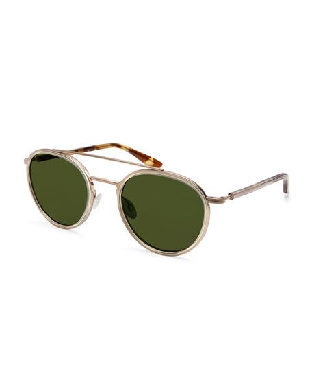 Justice Monochromatic Round Sunglasses, Champagne