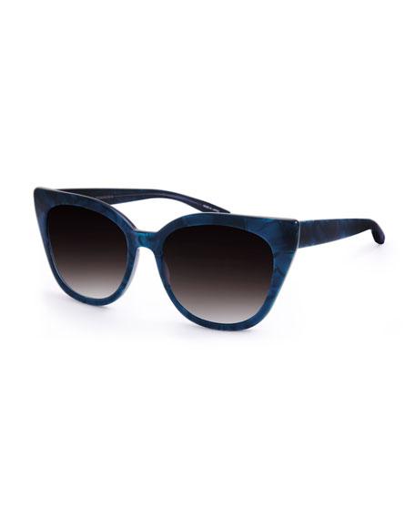 Shirelle Gradient Cat-Eye Sunglasses, Blue