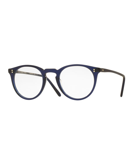 O'Malley Round Optical Frames, Blue