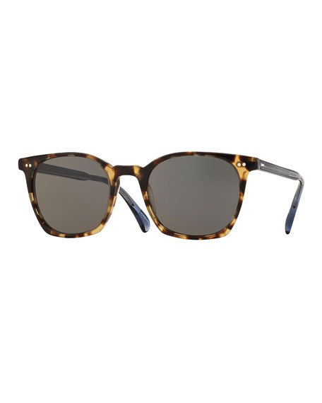 Oliver Peoples L.A. Coen Square Monochromatic Sunglasses, Hickory