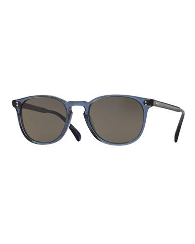 Finley Square Monochromatic Sunglasses, Blue