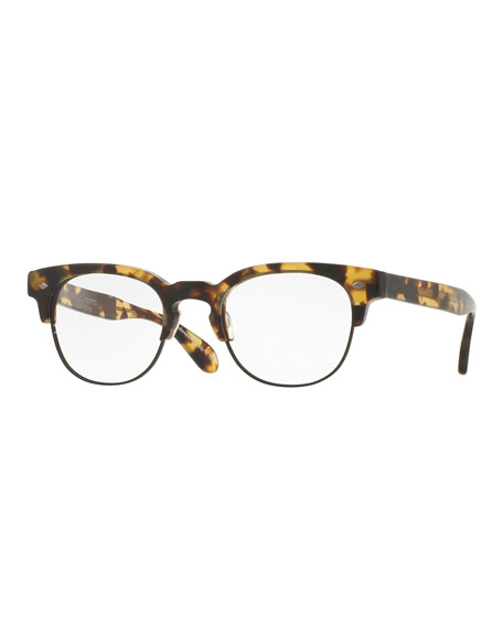 Oliver Peoples Hendon Optical Frames, Hickory Tortoise