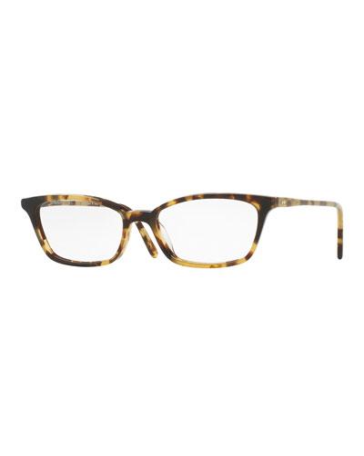 Scarla Cat-Eye Optical Frames, Hickory Tortoise