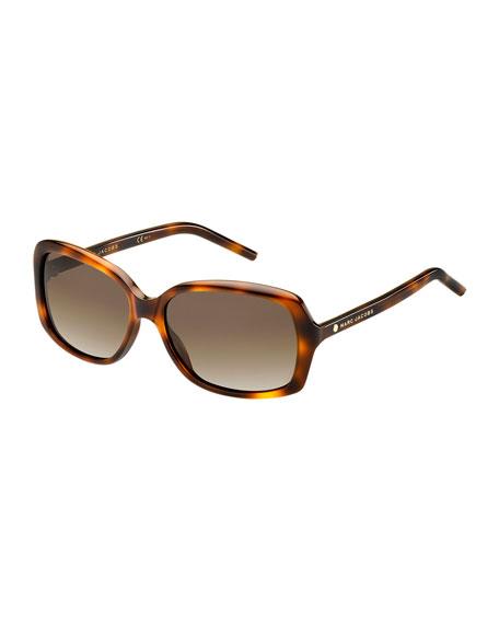 Rectangular Polarized Sunglasses, Tortoise