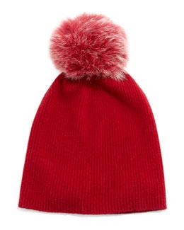 SLOUCHY HAT W/ POM