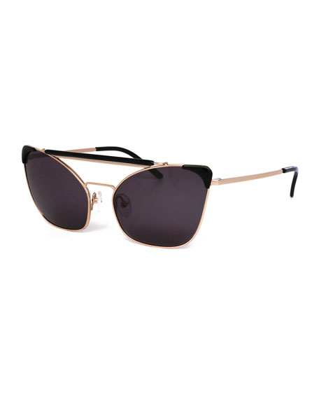 Chat Brow-Bar Cat-Eye Sunglasses