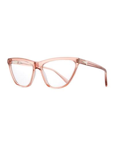 Cairo Cat-Eye Optical Frames, Rouge