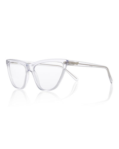 Cairo Cat-Eye Optical Frames, Clear