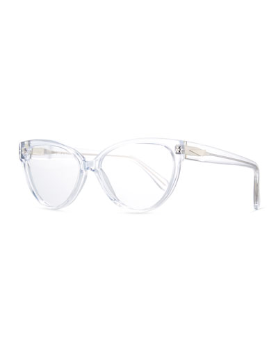 Cannes Cat-Eye Optical Frames, Clear